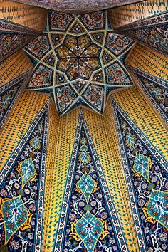 Interior of Mausoleum of Baba Taher, Iran
