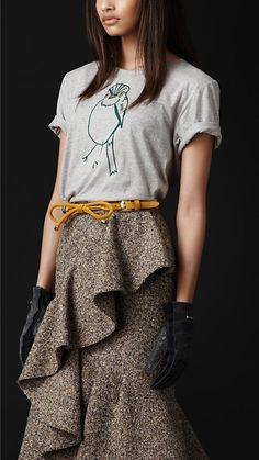 Burberry Prorsum Bird Graphic T-Shirt burberry-womenswear