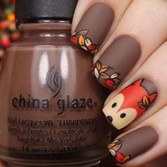 Reinforce Your Nails With Fall Nail Art Barbaramo .- Reinforce your nails with Fall Nail Art - Simple Nail Art Designs, Fall Nail Designs, Cute Nail Designs, Easy Nail Art, Cool Nail Art, Nails Design Autumn, Cartoon Nail Designs, Pretty Designs, Nail Lacquer