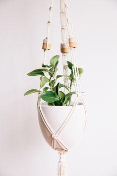 Martina Thornhill Ceramic Beaded Plant Hanger // Modern Macrame