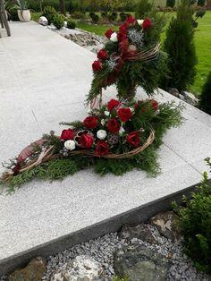 Funeral Flower Arrangements, Artificial Flower Arrangements, Funeral Flowers, Artificial Flowers, Floral Arrangements, Handmade Christmas Decorations, Christmas Wreaths, Holiday Decor, Grave Decorations