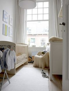 When in doubt, you can't go wrong with a simple, light-colored nursery like this one from The Style Files.