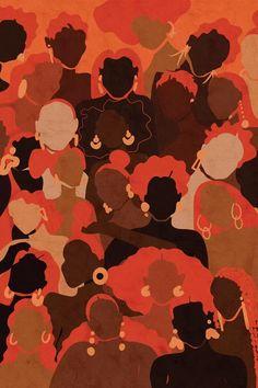 Black Art Painting, Black Artwork, Fire Painting, Black Girl Art, Black Women Art, Image Deco, Feminist Art, Afro Art, African Art