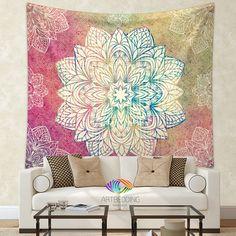 Boho Tapestry, Mandala tapestry wall hanging, bohemian decor, bohochic rustic decor