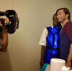 PHOTO: Behind The Scenes Picture Of David Tennant In Sierra Leone For Sport Relief