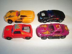 KINDER SURPRISE MINIATURES CARTOON DRAGSTERS CHROME MODEL CARS SET 1 1:87 H0