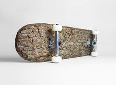 christophe guinet uses tree bark in the making of natural skateboard - designboom | architecture