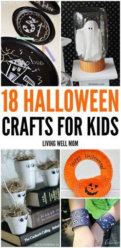 From a bubbling cauldron and Halloween luminaries to ghost light switch covers, here's a great list of Halloween crafts for kids the whole family will love!