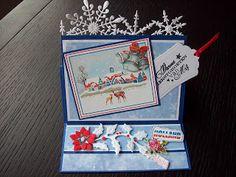 oma's kaartenhoekje: labelkaart en kerstkaart week 36