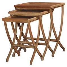 3-Piece Wishbone Nesting Table Set in Natural