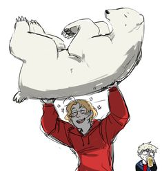 Lol Prussia's face XD>>He's probably wondering who he is and how he's so strong