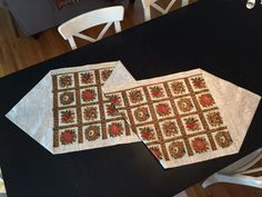 "Christmas Table Runner.  With a beautiful Paisley Reversible side for any time of the year, Handmade,measuring   21"" Wide x 6' Long"