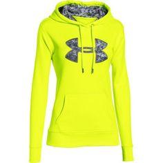 Under Armour Women's Ua Storm Armour Fleece Printed Big Logo Hoodie - Flashlight: Ultimate comfort meets… #outdoorclothing #huntinggear