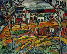 House in Chatou, by Maurice de Vlaminck - Colors are magic. Or the world is, and colors just set it free?