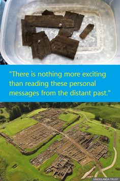 """Messages from the distant past"" are unearthed at the site of a Roman fort"