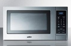 Summit Refrigeration SCM853 Microwave Oven  Rotary Turntable Digital Controls Stainless Steel 115V Each *** You can get additional details at the image link. (This is an affiliate link) #MicrowaveOvens