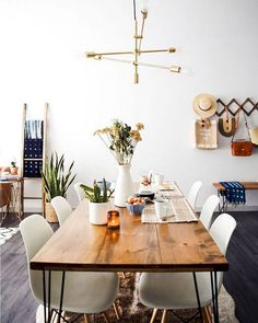 While This Dining Room May Seem Minimalistic The Walnut