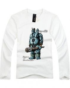 DOTA herói Ogre Magi camisas de manga comprida branca de t para homens-