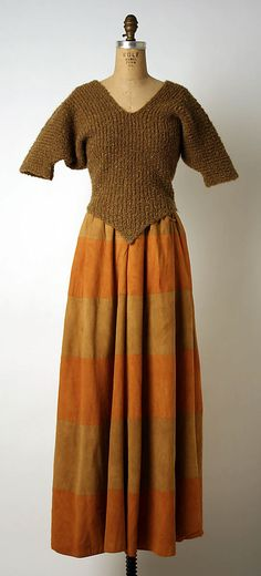 Ensemble, Evening Bonnie Cashin  (American, 1915–2000) Manufacturer: Philip Sills & Co. (American, founded 1946)  Date: 1960  Culture: American  Medium: wool, leather