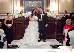 white wedding at driskill, white floral mantle decor #bzevents