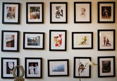 When I can buy about 20 black frames I will assemble something like this on my wall for inspiration..