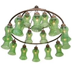 1stdibs - Egyptian Hand Blown Glass Light Green Chandelier explore items from 1,700  global dealers at 1stdibs.com