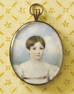 miniature portrait on ivory