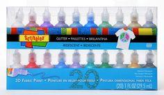 Scribbles 20-Pack Dimensional Fabric Paint Scribbles http://www.amazon.com/dp/B005573KYQ/ref=cm_sw_r_pi_dp_Si3rvb05BRWR1