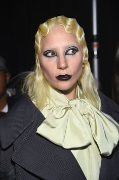 Lady Gaga Medium Wavy Cut - Lady Gaga sported this finger-wave style while showing off her modeling chops at the Marc Jacobs fashion show.