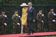 La reine Mathilde et le roi Philippe de Belgique à Waterloo, le 18 juin 2015