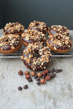 Baked Chocolate-Hazelnut Crunch Donuts | The Little Epicurean