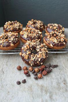 Baked Chocolate-Hazelnut Crunch Donuts | The Little Epicurean