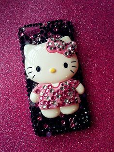 Big XL Cute Hello Kitty Bling IPhone 5 Case by HelloKristy719, $40.00