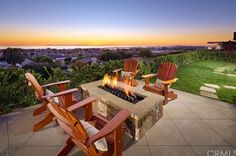 We would love to sit by the fire while overlooking the beautiful California Coast!