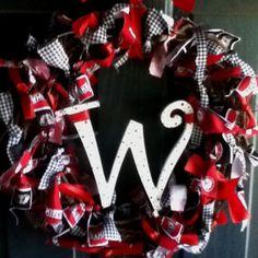 Alabama Football Wreath [Pinterest Addict]
