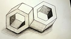 Simple How to Draw an Anamorphic Cube: Amazing optical illusion: Draw a cool anamorphic cube in a simple way on grid paper. Next Up: How to Draw Optical Illu. 3d Pencil Drawings, 3d Art Drawing, Geometric Drawing, Geometric Art, Optical Illusions Drawings, Amazing Optical Illusions, Art Optical, 3d Illusion Drawing, Illusion Art