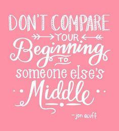 Don't compare!