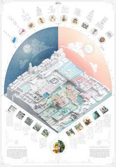 AA School of Architecture 2015 - Yah-chuen-shen Architecture Panel, Architecture Graphics, Architecture Student, Architecture Drawings, Architecture Design, Site Analysis Architecture, Architecture Mapping, Architecture Diagrams, Axonometric Drawing