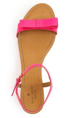 pink kate spade bow sandals