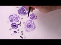watercolor rose tutorial - A step by step guide - YouTube