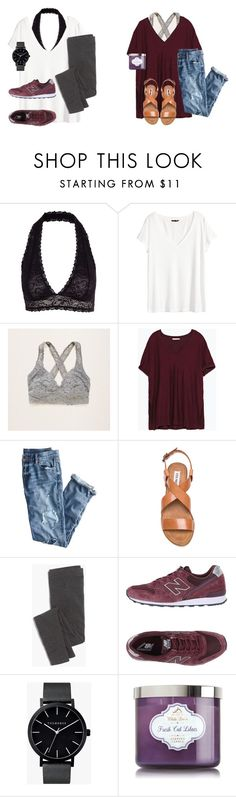 """""""Bralettes: When, where, how, and what to wear them with."""" by preppy-101 on Polyvore featuring Y.A.S, H&M, Aerie, Zara, J.Crew, Steve Madden, Madewell, New Balance and The Horse"""