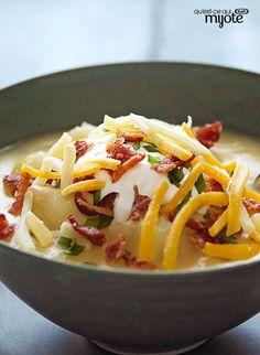 Soupe aux pommes de terre à la mijoteuse #recette