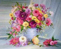 Pintura al Óleo, Flores Modernas de Anca Bulgaru