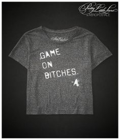 Pretty Little Liars Game On Boxy Crop Graphic T