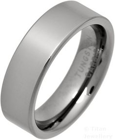 7mm Men's Comfort Fit Tungsten Carbide Wedding Band Ring