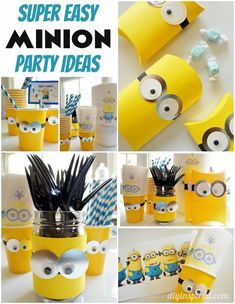 Easy and Budget-Friendly DIY Minions Party Ideas