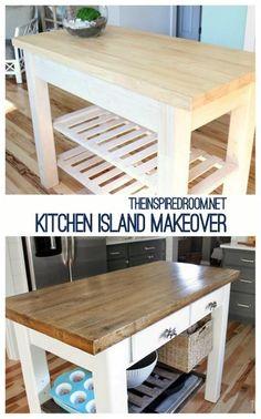 distressing furniture a kitchen island makeover