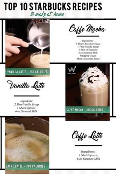 In this episode of Hellthy Junk Food, learn how to make 10 signature Starbucks Drinks. You'll learn how to make the cappuccino, the cafe late, a vanilla latte, caffe mocha, caffe macchiato, pumpkin spice latte, cinnamon dolce latte, the caramel brûlée ,the peppermint mocha, and the java chip frappe.