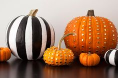 2 Ways to Make Chic No-Carve Pumpkins via Brit + Co.