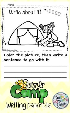 No Prep Summer writing prompt. Need writing ideas? Perfect summer theme great for end of the year writing or use them to send home in a summer packet. Parents will love these writing prompts! Kepp your kindergarten and first grade students writing all summer.